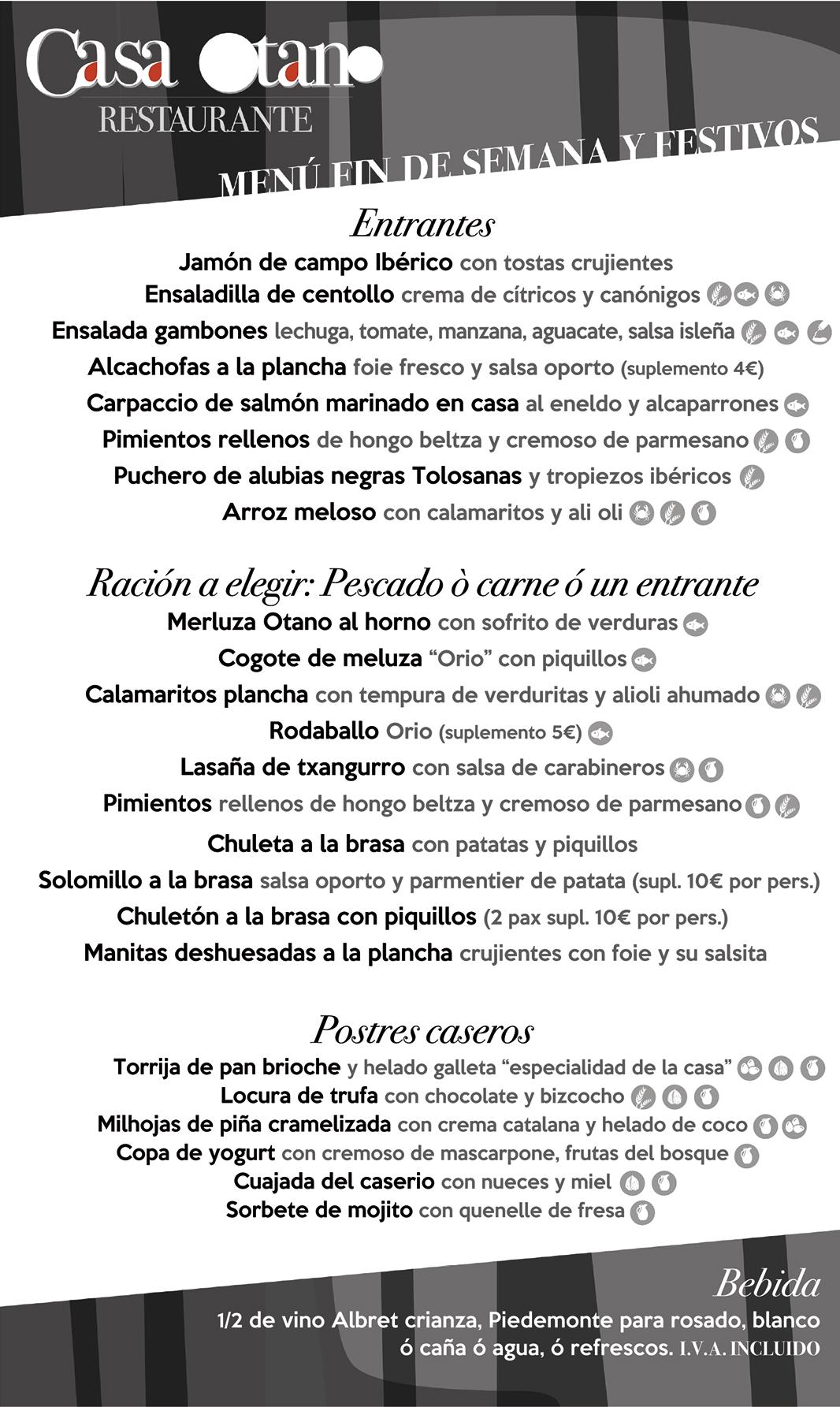 menu finde 2020